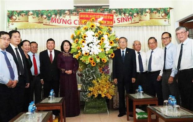 Vicepresidenta de Vietnam felicita a Iglesia Evangelica en ocasion de Navidad hinh anh 1
