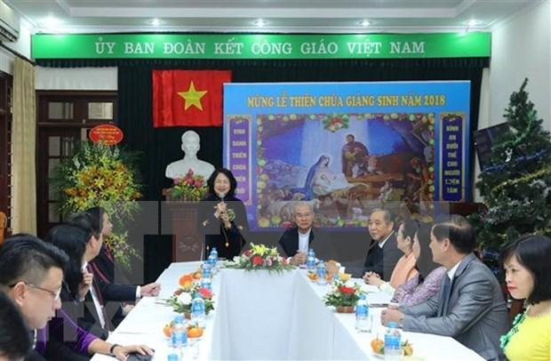 Vicepresidenta de Vietnam felicita a catolicos con motivo de Navidad hinh anh 1