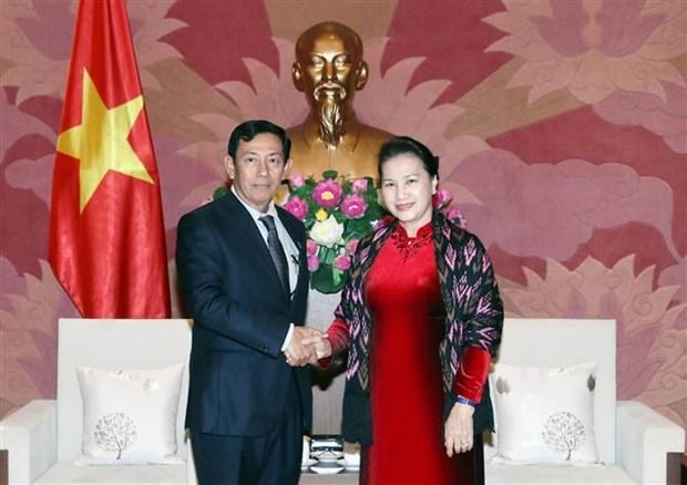 Presidenta del Parlamento de Vietnam aboga por robustecimiento de nexos con Myanmar hinh anh 1