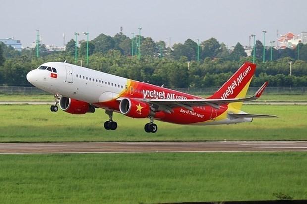 Vietjet Air comienza a vender boletos para ruta nacional Ciudad Ho Chi Minh - Van Don hinh anh 1