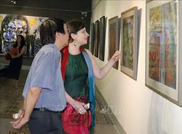 Celebran exposicion de pintura contemporanea Hungria - Vietnam hinh anh 1