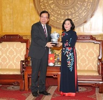 Delegacion del Partido Comunista de Japon visita la provincia vietnamita de Ninh Binh hinh anh 1