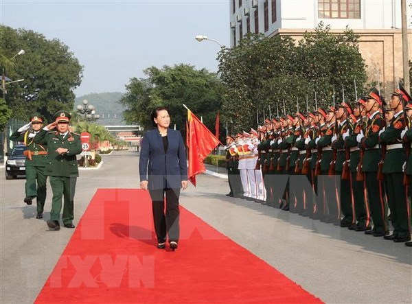 Presidenta del Parlamento vietnamita visita Zona Militar I hinh anh 1