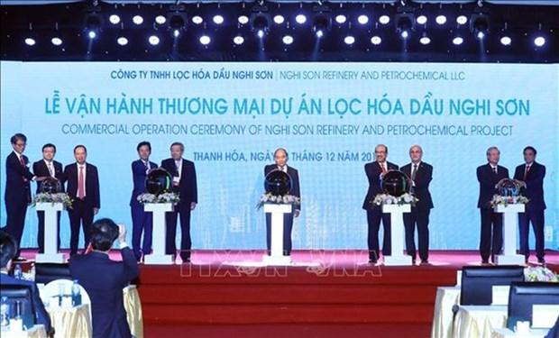Complejo de refineria petrolera de Nghi Son en Vietnam comienza su operacion comercial hinh anh 1