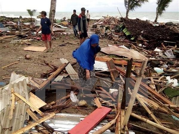Al menos 168 fallecidos por tsunami en Indonesia hinh anh 1