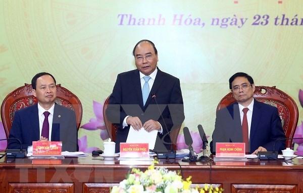 Premier de Vietnam insta a Thanh Hoa a intensificar formacion de recursos humanos hinh anh 1
