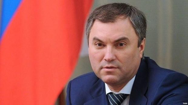 Presidente de la Duma Estatal de Rusia inicia una visita oficial a Vietnam hinh anh 1