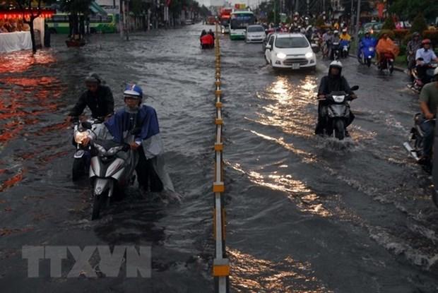 Ciudad Ho Chi Minh se esfuerza por solucionar problemas de las inundaciones para 2020 hinh anh 1