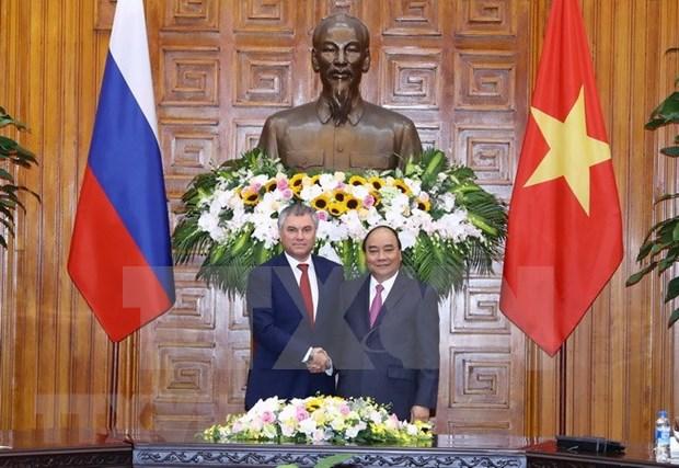 Premier de Vietnam recaba asistencia de Rusia a construccion de gobierno electronico hinh anh 1