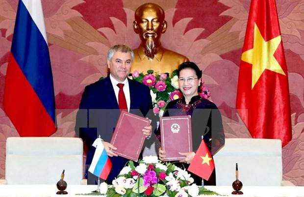 Presidente de Duma Estatal de Rusia concluye visita oficial a Vietnam hinh anh 1