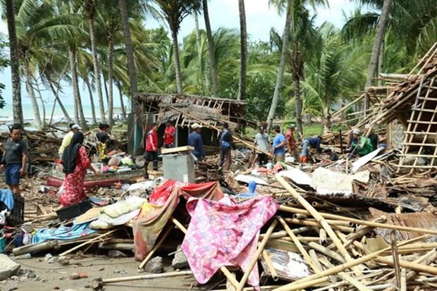 Afectados de tsunami en Indonesia reestabilizan la vida hinh anh 1