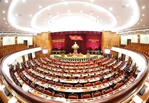 Clausuran noveno pleno del Comite Central del Partido Comunista de Vietnam hinh anh 1