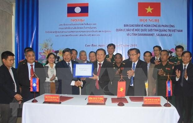 Provincias de Vietnam y Laos acuerdan proteccion de marcadores fronterizos hinh anh 1