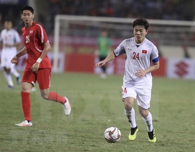 Equipo de futbol de Vietnam realiza entrenamiento en Qatar en visperas de Copa Asiatica 2019 hinh anh 1