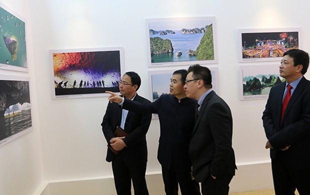 Exponen en Hanoi obras de pintores chinos hinh anh 1