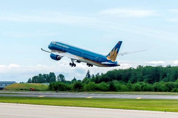 Aerolinea insignia Vietnam Airlines cumple su plan del ano hinh anh 1
