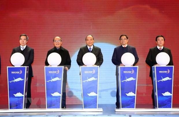 Premier vietnamita inaugura importantes obras infraestructurales en Quang Ninh hinh anh 1