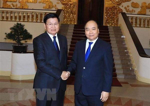 Premier laosiano copresidira la Reunion 41 del Comite Intergubernamental Vietnam – Laos en Hanoi hinh anh 1