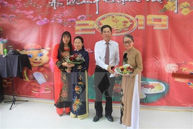 Vietnamitas en Angola se reunen para dar bienvenida al Ano Nuevo 2019 hinh anh 1