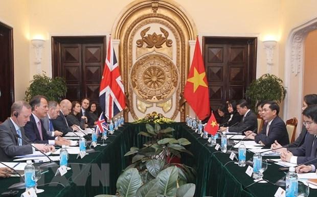 Vietnam y Reino Unido efectuan consulta politica a nivel de vicecanciller hinh anh 1