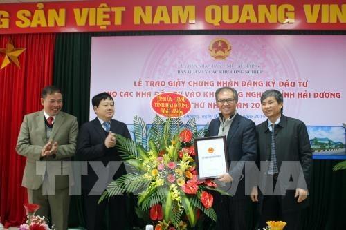 Hai Duong concede licencias a dos primeros proyectos de inversion extranjera en 2019 hinh anh 1