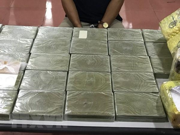 Aduana vietnamita incauta 2,3 kilogramos de droga hinh anh 1