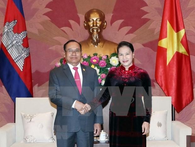 Vietnam y Camboya trabajan para fortalecer lazos bilaterales hinh anh 1