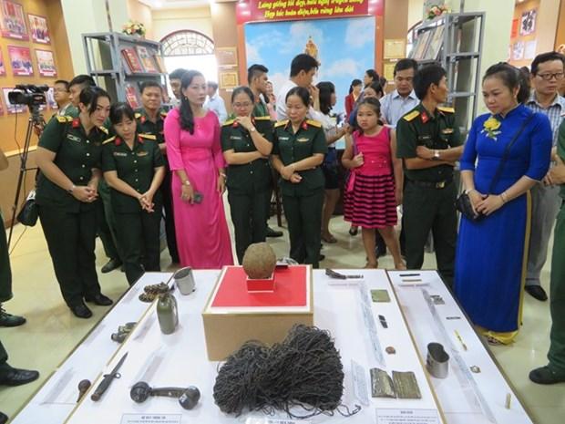 Efectuan en ciudad vietnamita de Can Tho exposicion sobre la guerra nacional en frontera suroeste hinh anh 1