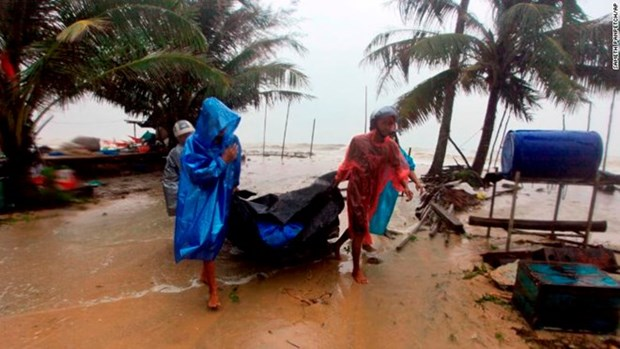Tormenta tropical Pabuk golpea la costa del Sureste de Tailandia hinh anh 1