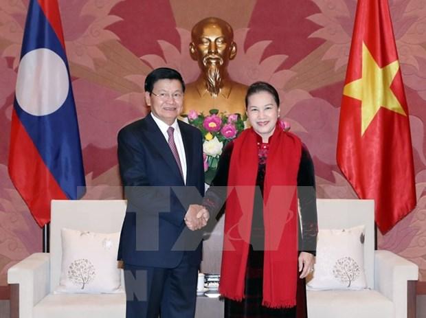 Parlamento vietnamita reafirma respaldo a cooperacion intergubernamental con Laos hinh anh 1