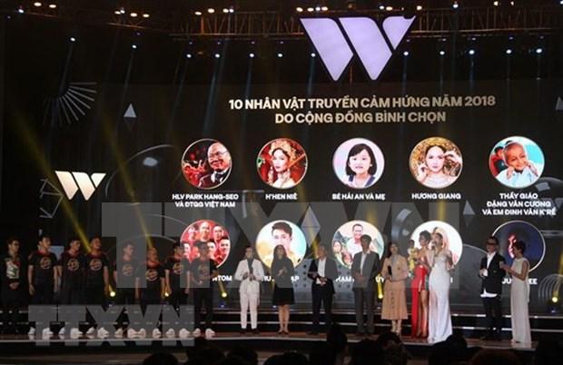 WeChoice Awards 2018 honra a vietnamitas con grandes contribuciones a la sociedad hinh anh 1