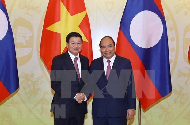 Crean nueva fuerza de impulso para profundizar lazos Vietnam- Laos hinh anh 1