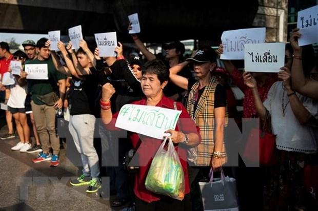 Activistas tailandeses protestan debido a posible retraso de elecciones generales hinh anh 1