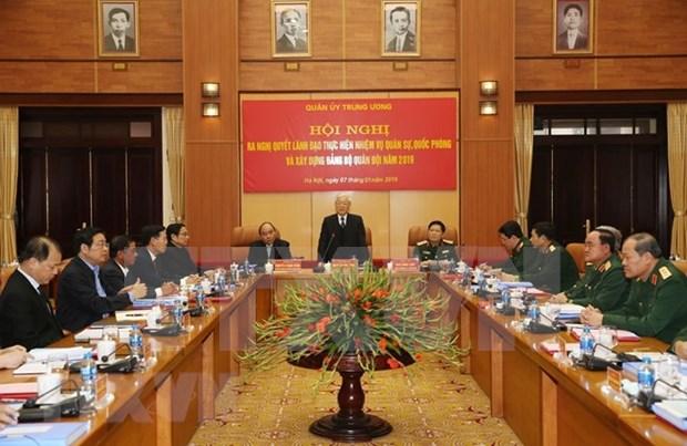 Maximo dirigente vietnamita insta al ejercito a fortalecer lucha anticorrupcion hinh anh 1