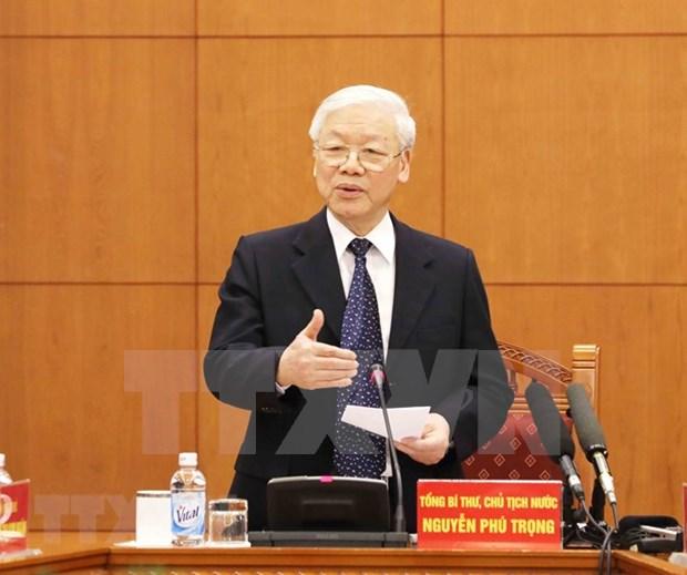 Sesiona Subcomite de documentos del XIII Congreso nacional del Partido Comunista de Vietnam hinh anh 1