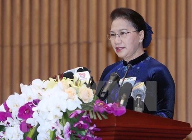 Presidenta del Parlamento de Vietnam llama a establecer mas acuerdos de asistencia legal hinh anh 1