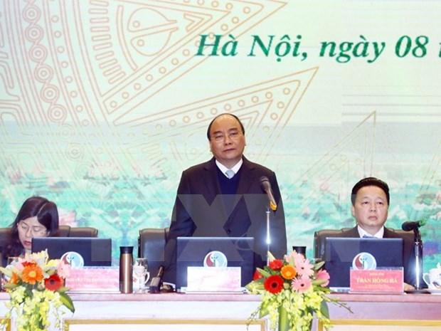 Premier de Vietnam destaca logros del sector de recursos naturales y medio ambiente en 2018 hinh anh 1