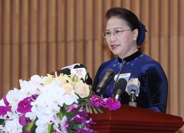 Presidenta de Asamblea Nacional de Vietnam insta a mejorar labores legislativas de Oficina parlamentaria hinh anh 1