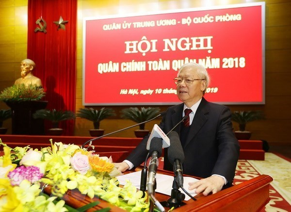 Dirigente de Vietnam insta al Ejercito a mantener firme la soberania nacional hinh anh 1