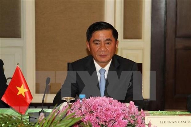 Delegacion de comision de control disciplinario del PCV visita Camboya hinh anh 1