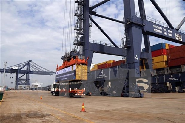 Atraca super carguero a puerto vietnamita de Cai Mep hinh anh 1