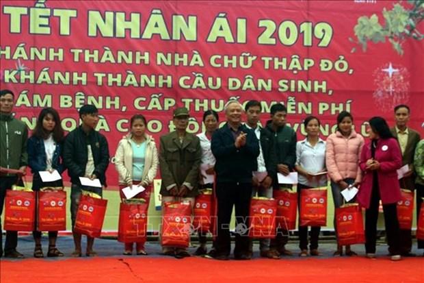 Actividades dedicadas a personas desfavorecidas y pobres vispera del Tet hinh anh 1