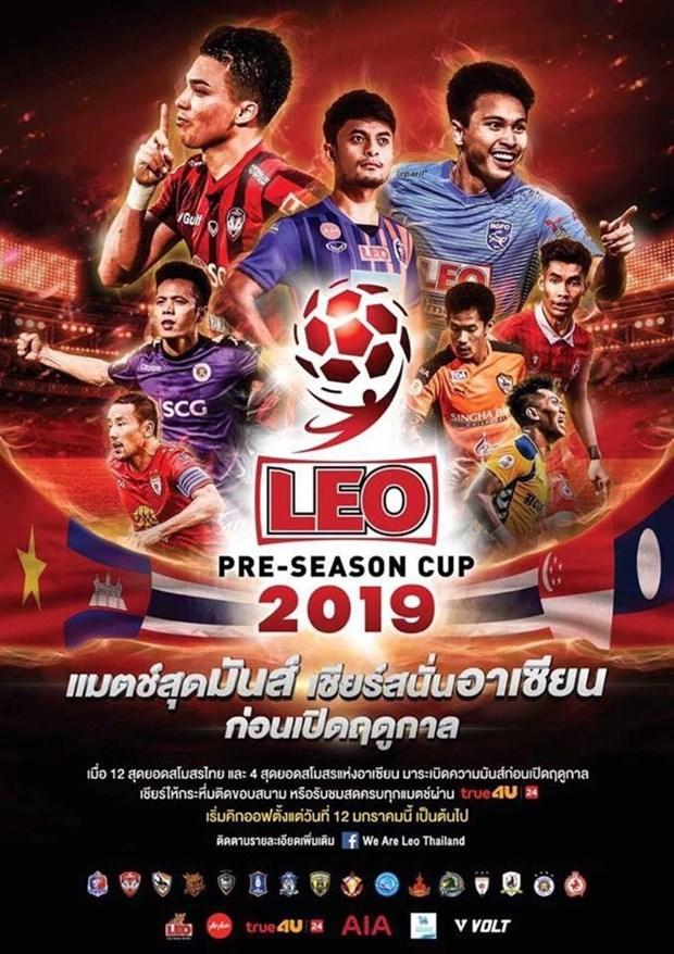 Compite equipo de futbol vietnamita en pretemporada de Copa Leo de Tailandia hinh anh 1