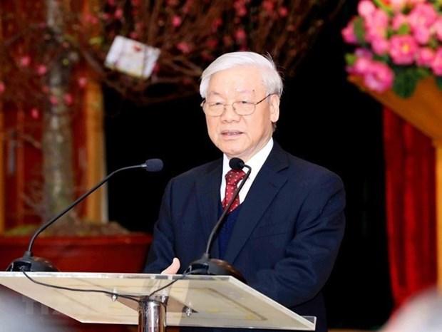 Maximo dirigente politico de Vietnam exige mayores esfuerzos para reforma judicial hinh anh 1