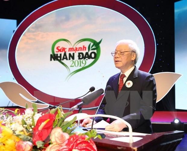 Llama presidente de Vietnam a acciones conjuntas para promover valores humanitarios hinh anh 1