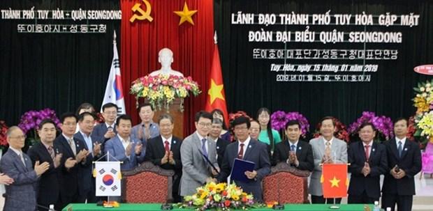 Amplian Vietnam y Corea del Sur cooperaciones interdistritales hinh anh 1