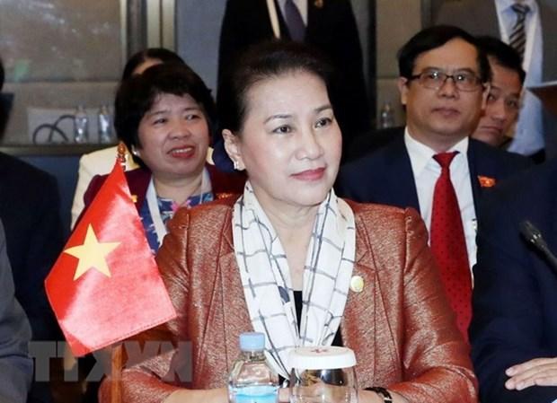 Presidenta parlamentaria de Vietnam finaliza su participacion en APPF-27 en Camboya hinh anh 1