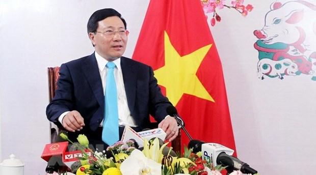 Trabajo de relaciones exteriores consolida el prestigio de Vietnam, valora canciller hinh anh 1