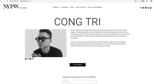 Presentaran disenadores vietnamitas sus colecciones en Semana de la Moda de Nueva York 2019 hinh anh 1