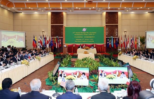 Concluye la 27 Reunion del Foro Parlamentario Asia-Pacifico en Siem Reap hinh anh 1